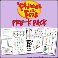 phineas and ferb pre k Pre K Packs