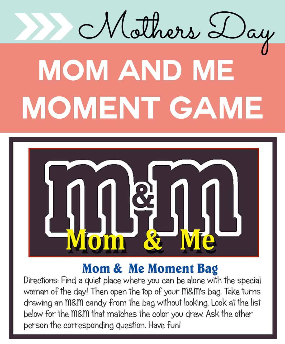 m&m mom & me moment