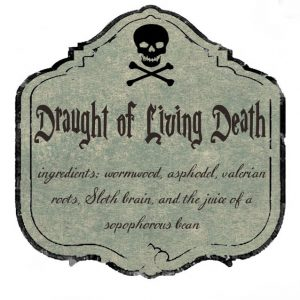 draught of living death 300x300 Halloween Decor: Harry Potter Potion Bottles