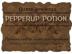 pepperup potion 300x226 Halloween Decor: Harry Potter Potion Bottles