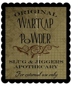 wartcap powder 247x300 Halloween Decor: Harry Potter Potion Bottles