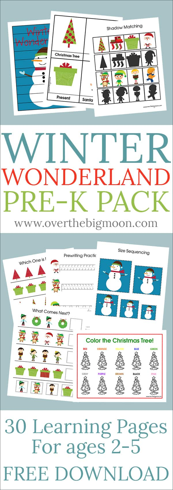 Winter Wonderland Pre-K Pack - Over the Big Moon