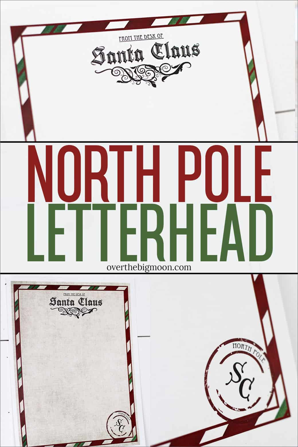 It's just an image of Simplicity Free Printable Letters From Santa North Pole