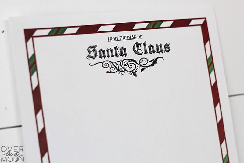 North Pole Stationary Free Printable - deliver a letter from Santa during the Holidays or in their stocking on Christmas morning! From overthebigmoon.com!
