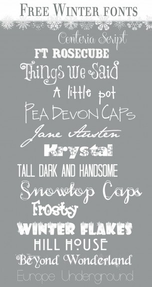 Free Winter Fonts 305x575 Free Winter Fonts
