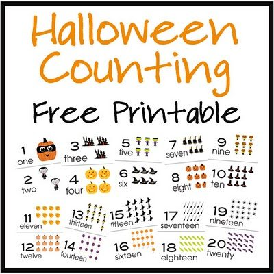 Halloween Counting Cards