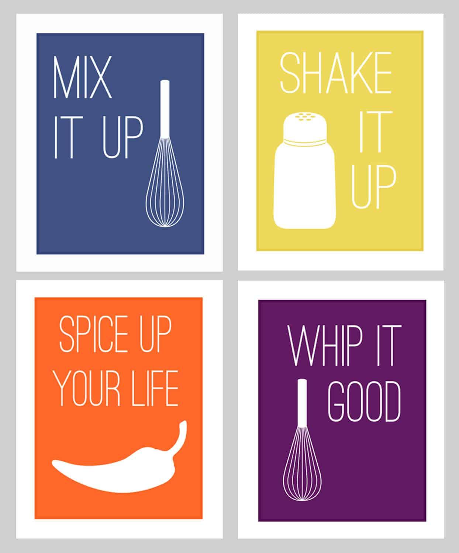 fun kitchen printables