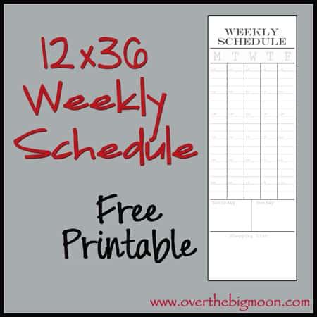 newweeklyschedule 12x36 Weekly Schedule