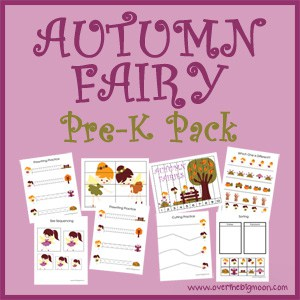 AutumnFairyButtonsmall Autumn Fairy Pre K Pack