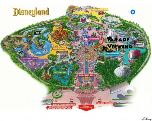 Disneyland Map by Captain Halfbeard copy 575x460 Insiders Guide to Disneyland!