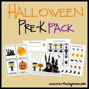 NEWHalloweenButton Pre K Packs
