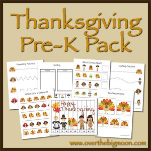 ThanksgivingButton Pre K Packs