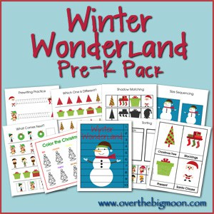 WinterButton Pre K Packs