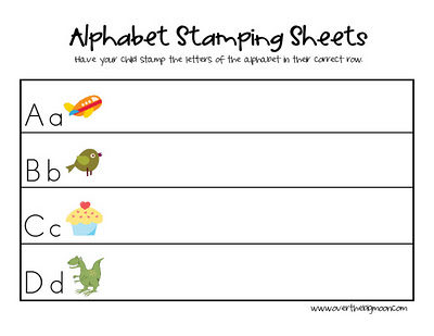 Alphabet Stamping Sheets