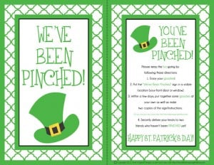 pinched preview 300x232 St. Patricks Day Pre K Pack
