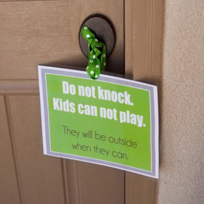 Do Not Knock Door Printable