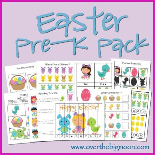 Easter Pre K Pack Over The Big Moon