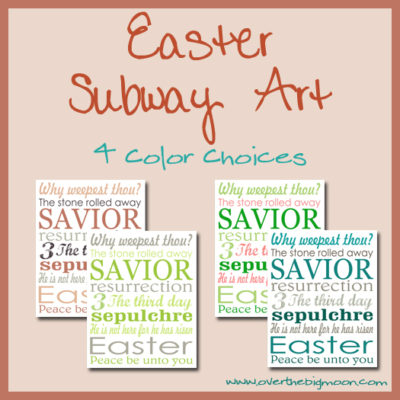 Easter Subway Art
