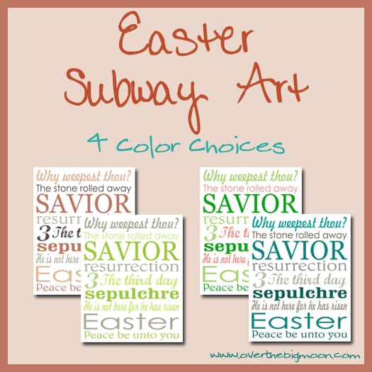 EasterSubwayArtButton Easter Subway Art