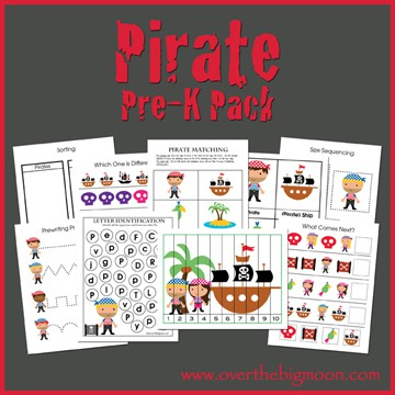 PirateButtonsmall Pirate Pre K Pack