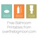 Free Bathroom Printables from Over the Big Moon