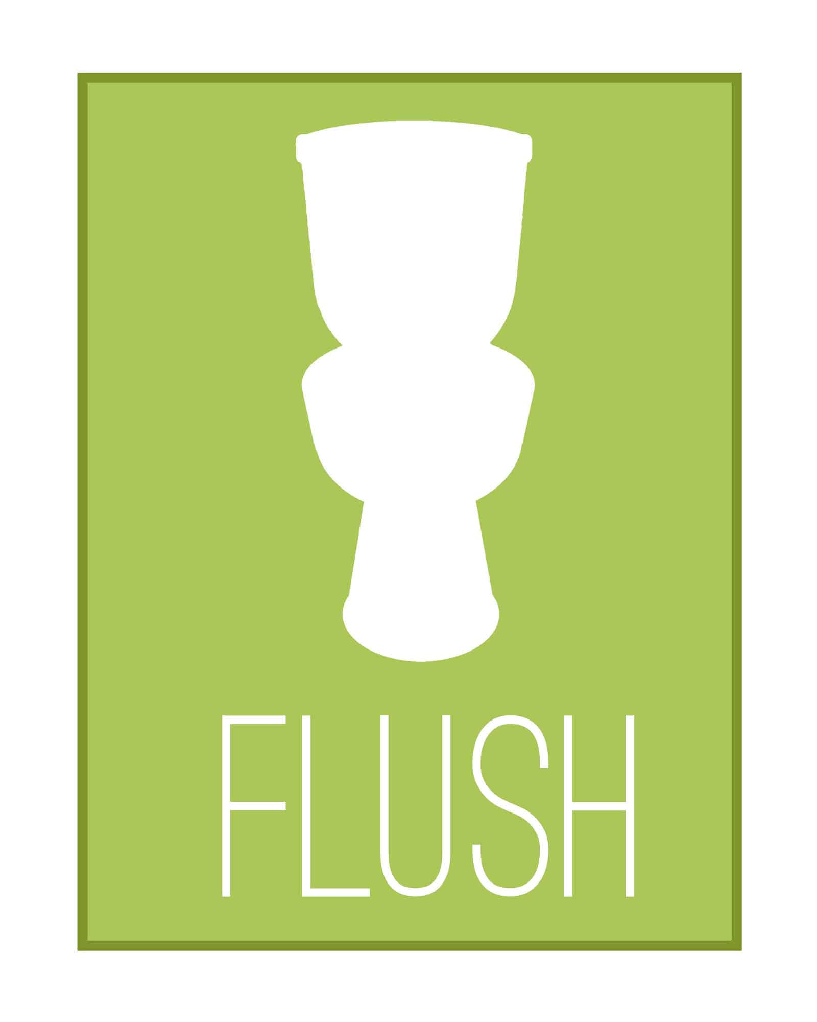 Bathroom printables for Flush with the wall