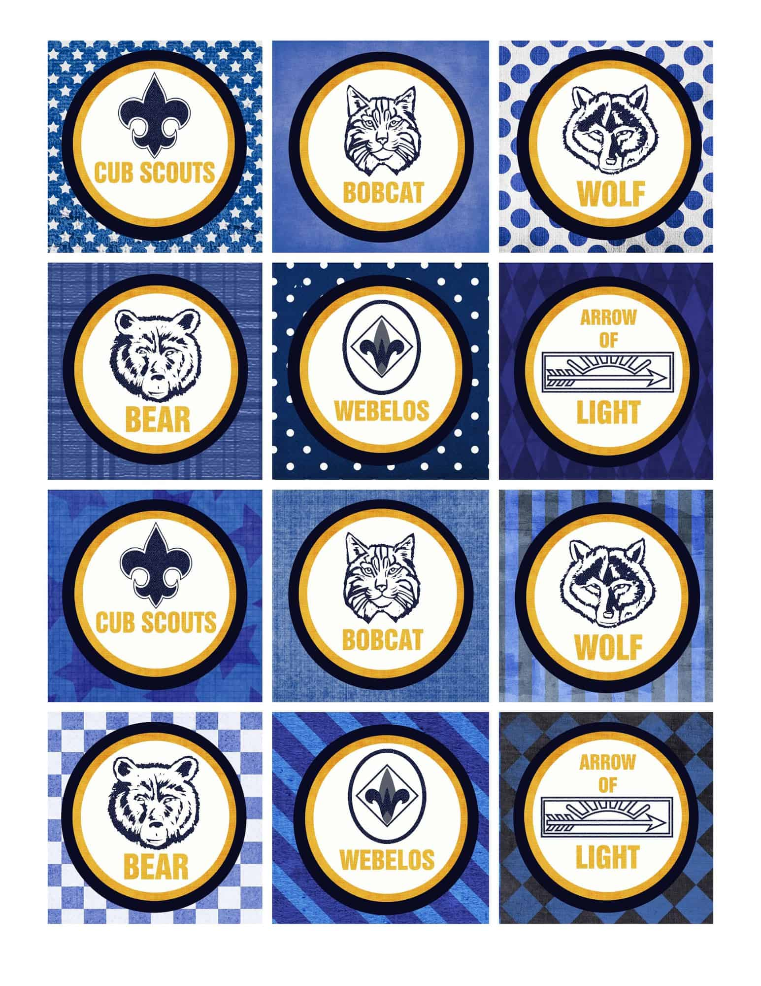 Revered image within cub scout printable