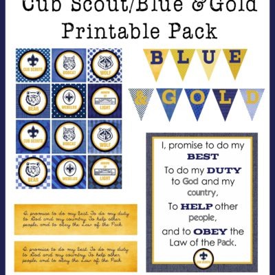 Blue & Gold Printable Pack