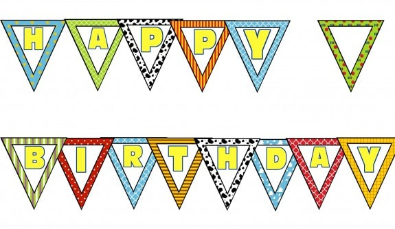 BuntingPreview 575x334 Toy Story Party Printables