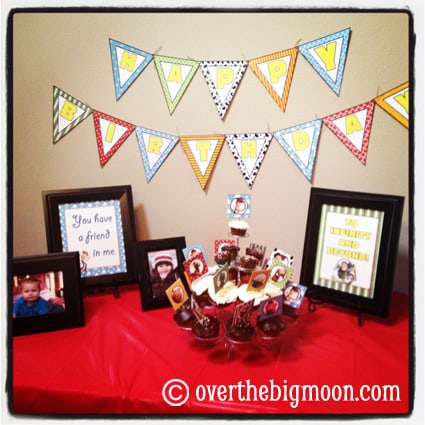 Table Toy Story Party Printables
