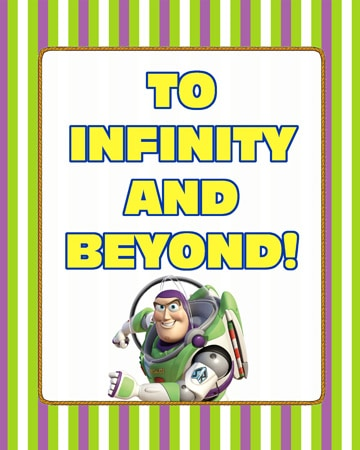 ToInfinityandBeyondButton Toy Story Party Printables