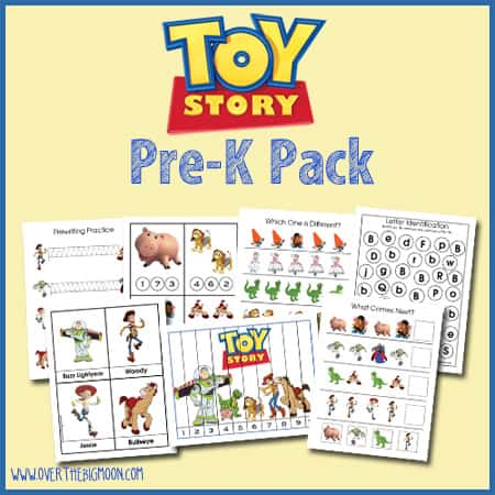 Over The Big Moon Toy Story Pre-K Pack - Over The Big Moon