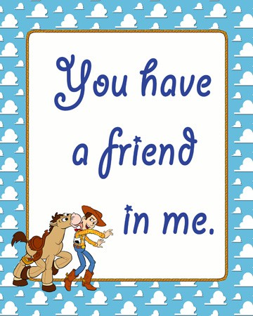 YouHaveaFriendButton Toy Story Party Printables