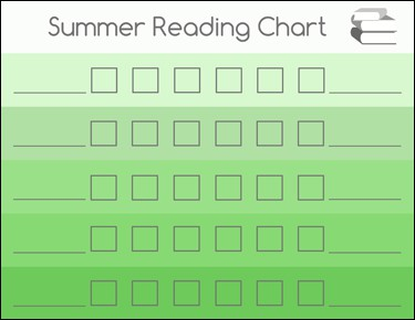 summerreadingchartgreen Summer Reading Chart
