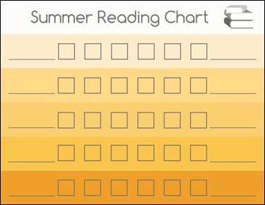 summerreadingchartorange Summer Reading Chart