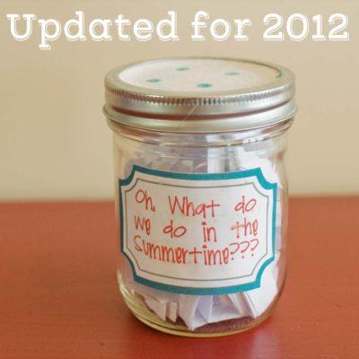 Summer Jar List - New Ideas