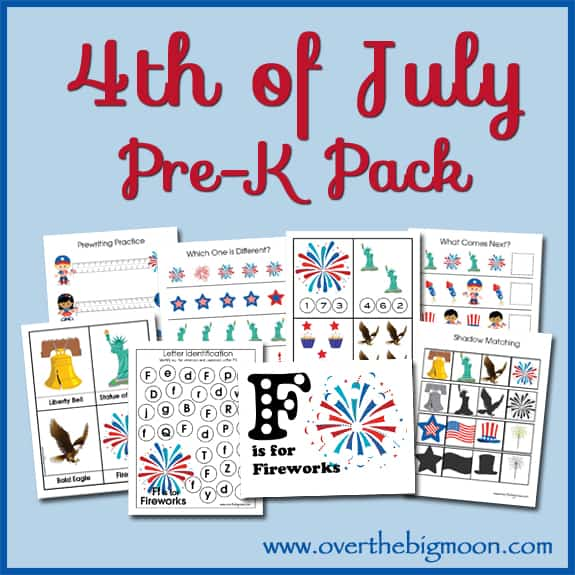 4thofJulyButton 4th of July Pre K Pack