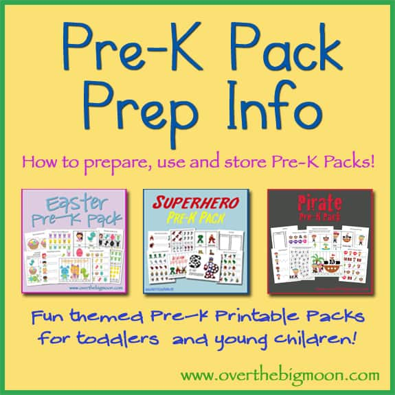 Over the Big Moon Pre K Packs