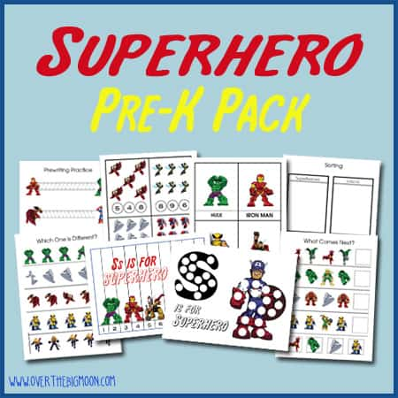 SuperheroPreKButton Superhero Pre K Pack
