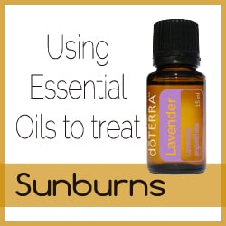 Using Essential Oils to Treat a Sunburn