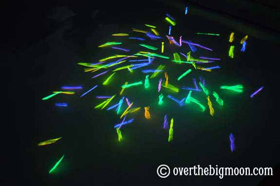 Night Time Swimming With Glowsticks