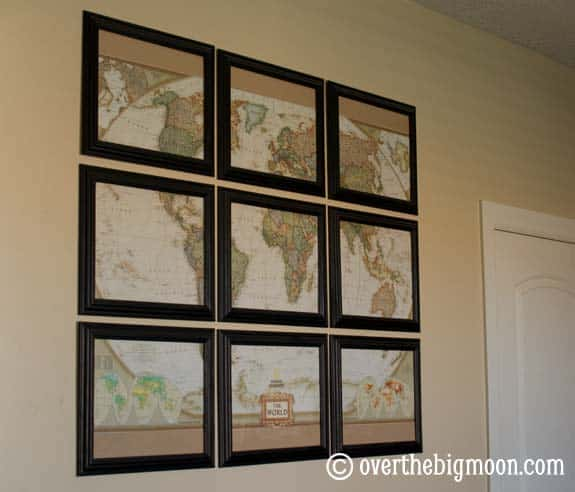 Map Wall Art home decor - over the big moon