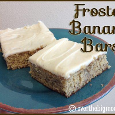 Frosted Banana Bars