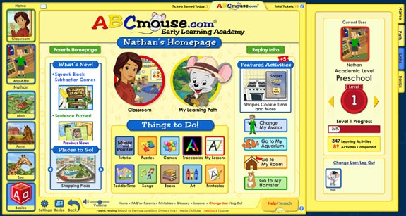 mainpage ABCMouse.com Review