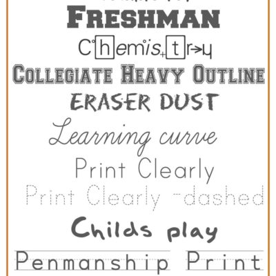 Fabulously Free School Fonts