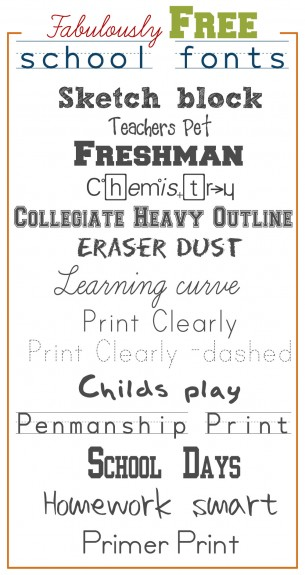 Fabulously Free school fonts1 305x575 Fabulously Free School Fonts
