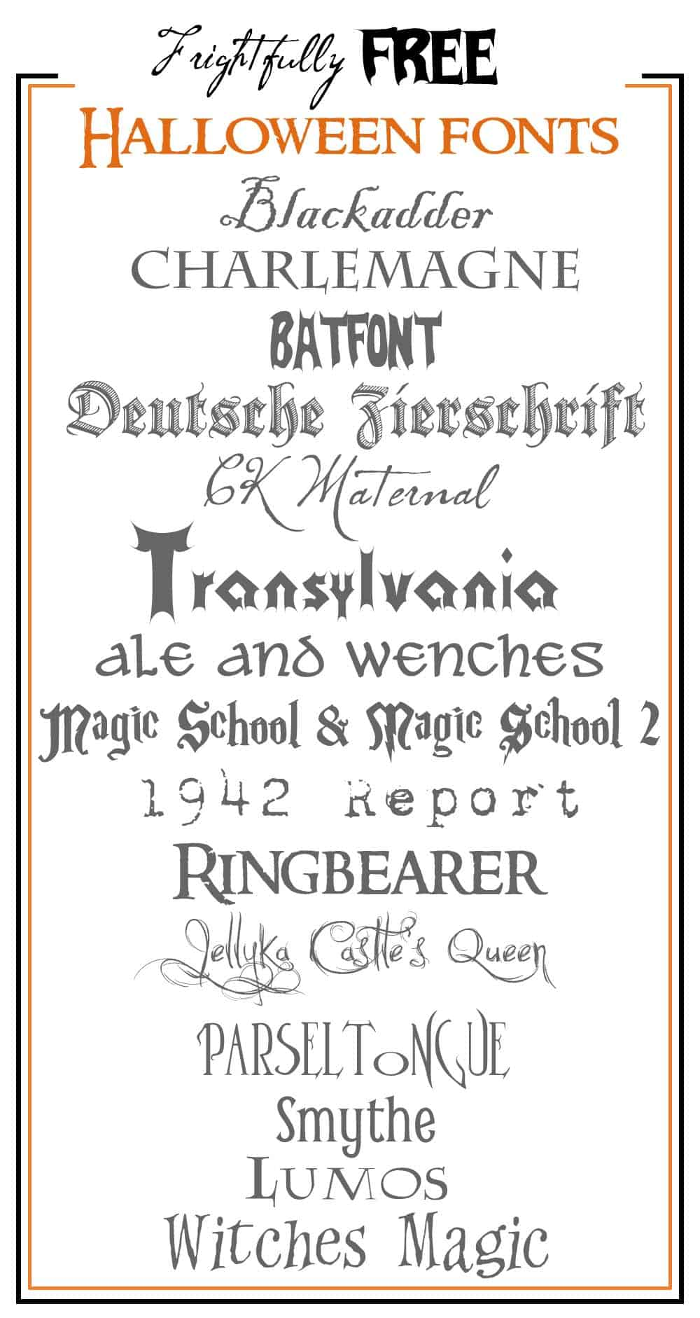 Frightfully Free Halloween Fonts