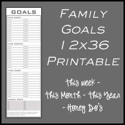 Goals 12x36 Printable