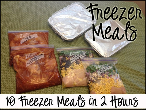 button 10 Freezer Meals in 2 Hours