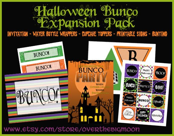 ExpansionButton Halloween Bunco Printables